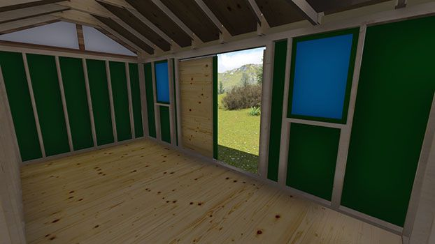 interior pic of our 8 x 16 garden shed plan - Garden Sheds 8 X 16