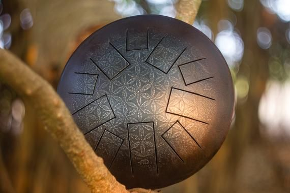 Anahata Drum Steel Tongue Drum Handpan Handmade Dream Drum Tank Drum Hank Drum Sound H Etsy Vintage Drums Flower Of Life