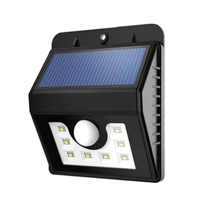 LED Solar Lights, SurLight Super Bright 8 LED Motion Sensor Light Waterproof Outdoor Solar Security Lights with Motion Activated Auto On/Off for Deck Step Path Garden Patio Yard Wall