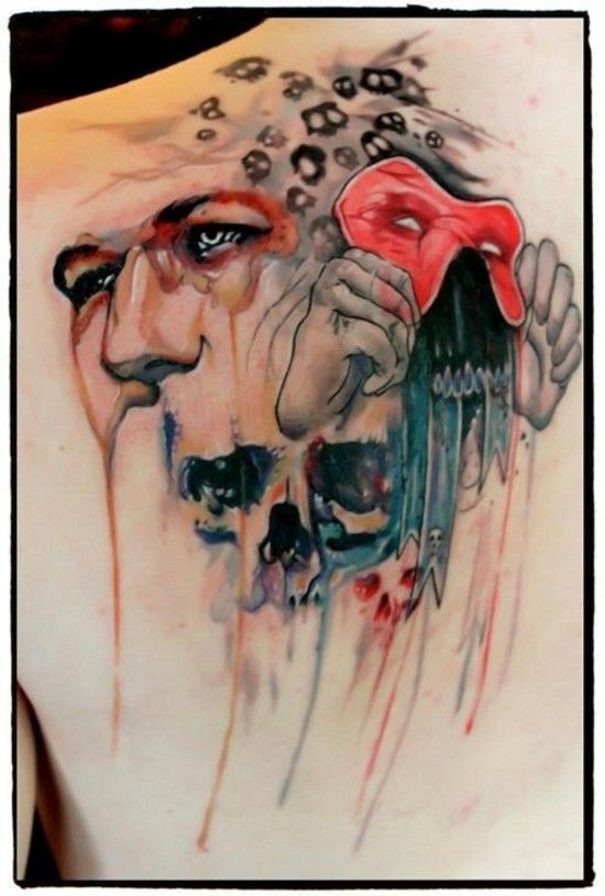 49 best cool tats images on pinterest tattoo ideas for Face mask tattoo