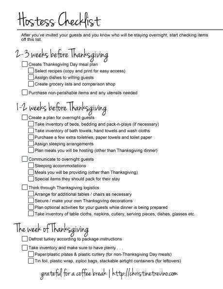269 Best Thanksgiving Dinner Checklist Images On Pinterest Drink