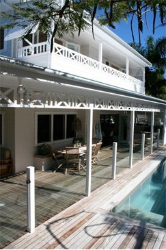 Shutters and an idea brewing inspired by the way fretwork is used on the top balcony at Little Palm on Atlantic Byron Bay