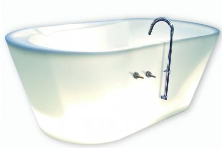 Badkar no6,0 F Bclean Fristående badkar i återvunnen plast. Belysningsbart.