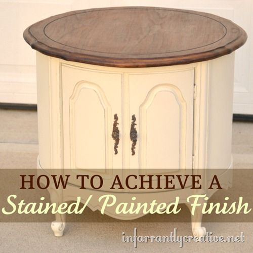 Paint & Stain Table: Paintings Furniture, Paintings Stained, Paintings Tables, Stained Finish, Stained Paintings Finish, Stained Tables, Furniture Redo, Kitchens Tables, End Tables