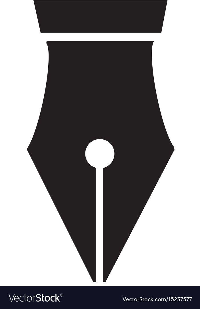 Fountain Pen Icon On White Background Pen Nib With Heart Sign Download A Free Preview Or High Quality Adobe Illustrator Ai Pen Icon Pen Nib Web Design Logo