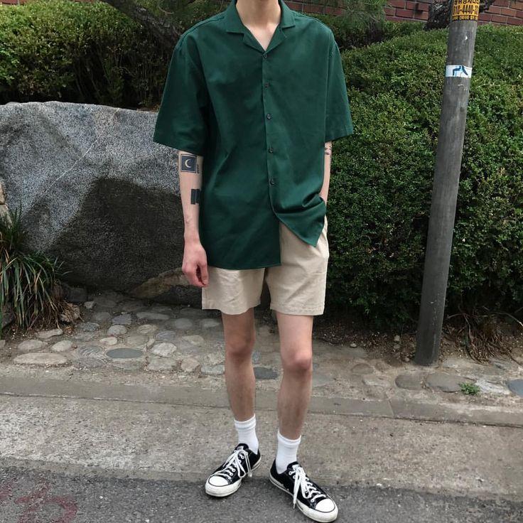 "HI-FI FNK (@hififnk_official) on Instagram: ""- Look (Men) Top. Farm Half Shirts (4color) Bottom. London Linen Shorts (6color)"""