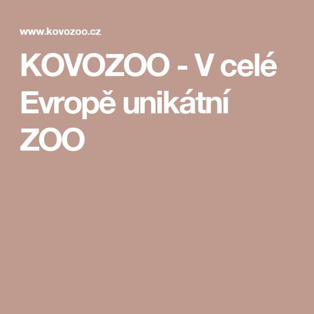 KOVOZOO - V celé Evropě unikátní ZOO