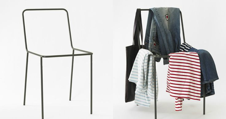 You know that one chair in your room where you hang your used-but-still-useable clothes? There's now a chair for that chair. Developed by designers Bridie