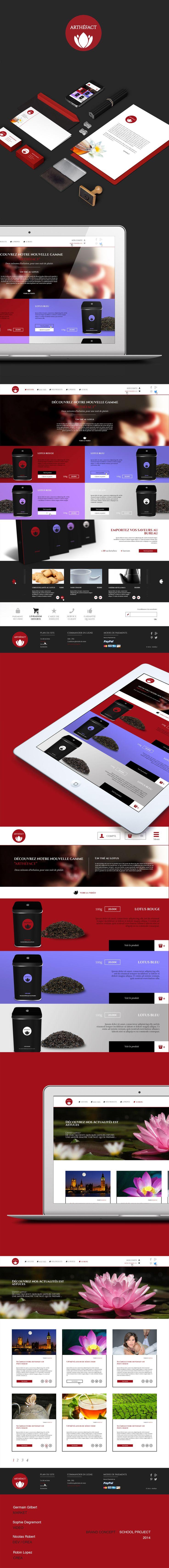 Brand concept - School project #webdesign #brand #tea #shop #packaging #ux #responsive