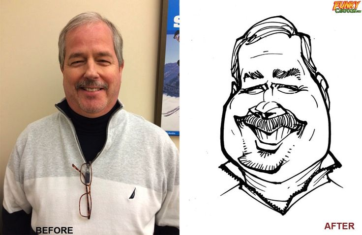 Photo To Caricature Example - Check out our FunkyCartoon caricature at http://www.funkycartoon.com/photo-caricature-example/  #BlackAndWhitePersonSketch, #Caricature, #PhotoToCaricature, #PhotosToCaricature