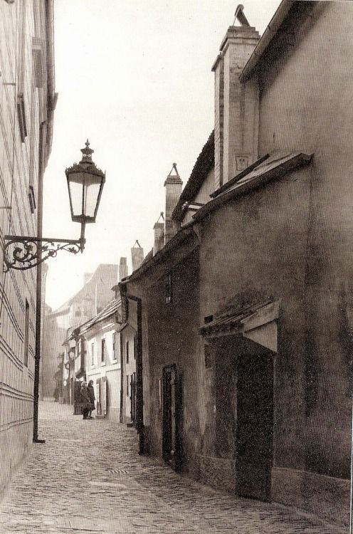 Golden Lane, Prague Castle take 2 by A.Kleibl, late 60's