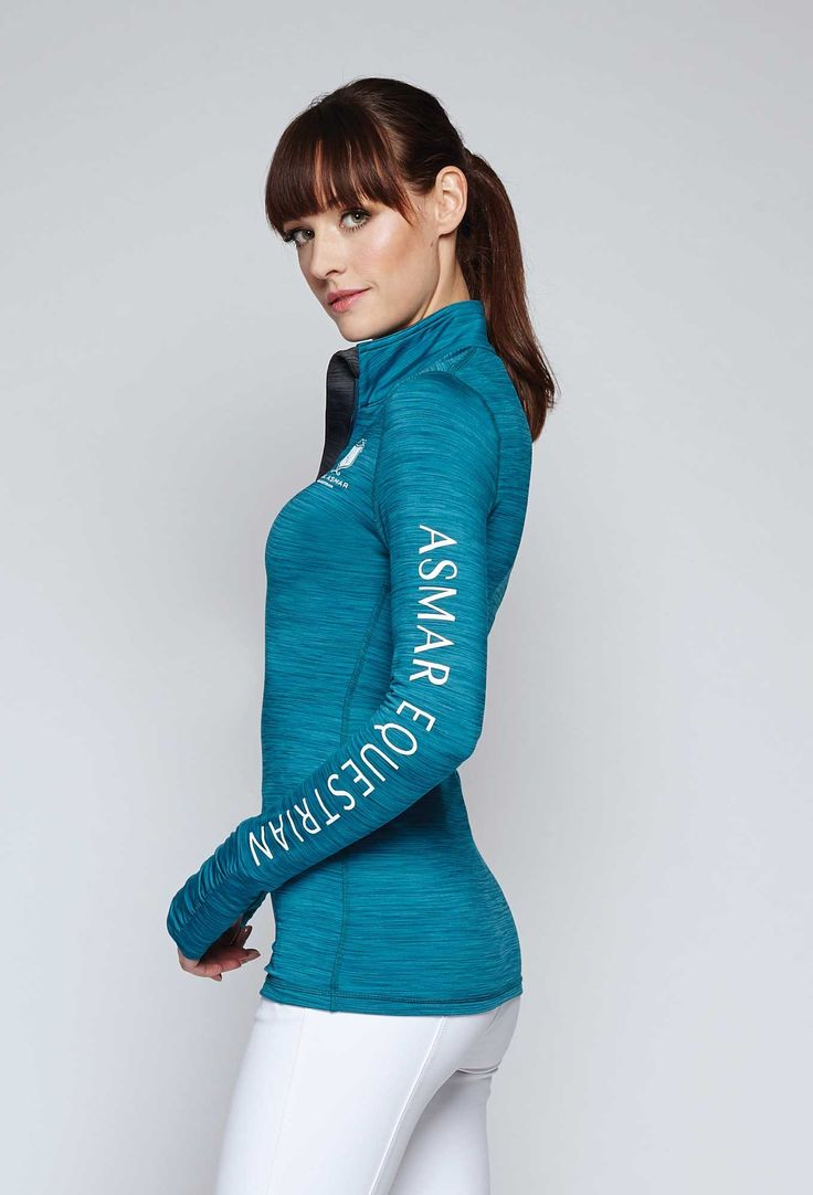 Transition into fall equestrian wear with the Vale 1/4 zip in twilight from Asmar Equestrian.