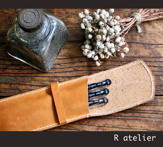 Handmade Leather Pen Case | Starting at $12 | Ideal gift for your loved ones!  #leathercase #pencilcase #pencilpouch #leathergifts