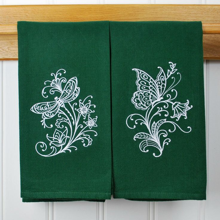 Personalized Kitchen Towels Monogrammed Etsy Custom Embroidered Tea