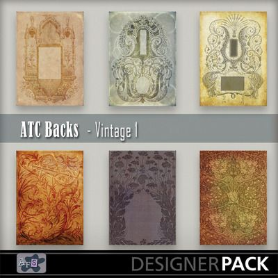 For ATC [Artist Trading Card ]lovers. 6 Backgrounds ready sized for you. [2.5 x 3.5 inches] NB These are NOT fullsized scrapbook papers. Thi...