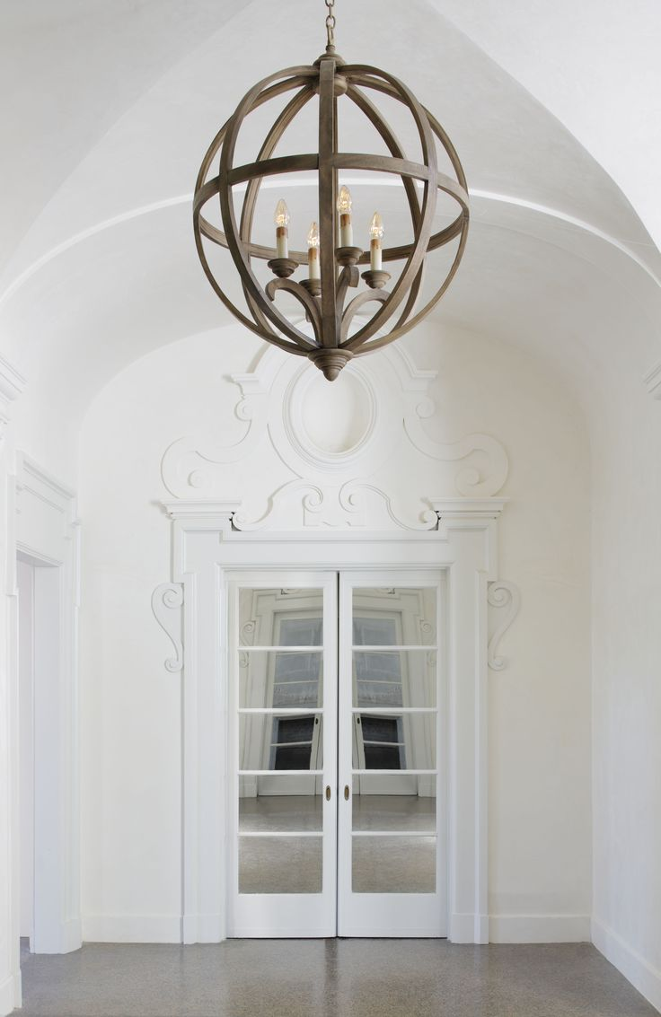 Wood Foyer Lighting : Drexel curved wooden orb light chandelier inch
