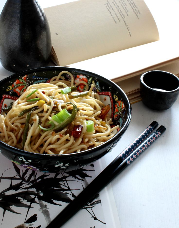 Scallion oil noodles verticale