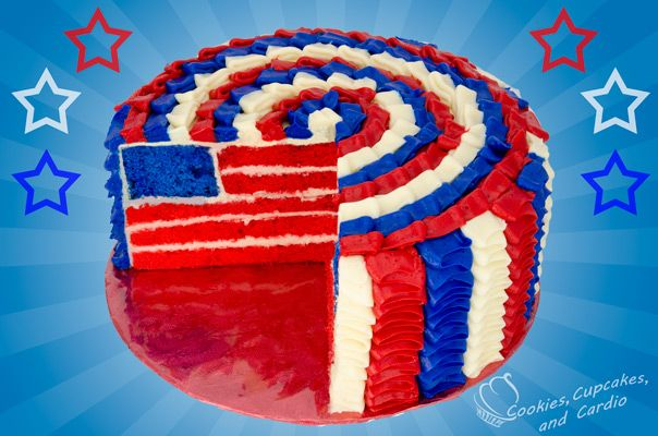 American Flag Cake | Cakes from Cookies, Cupcakes and Cardio | Pinter ...