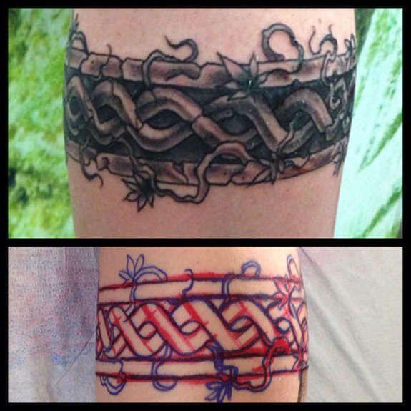 Irish Celtic Tattoos Knot, Trinity, Harp, Band (2)