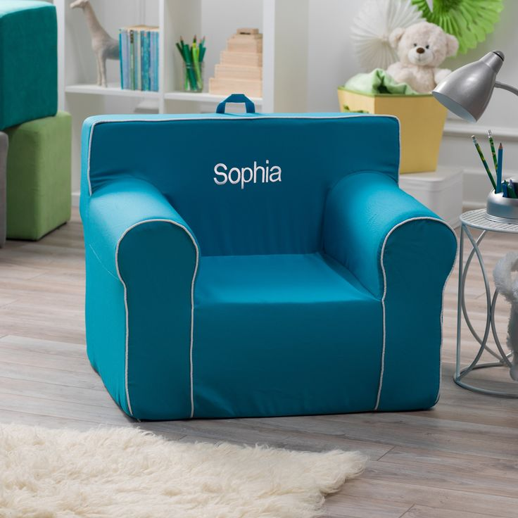 Good Here and There Personalized Kids Chair Aqua P