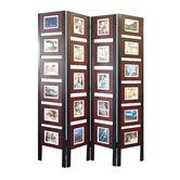 """Found it at Wayfair - 67"""" x 54"""" Oscar Picture Folding Screen 4 Panel Room Divider"""