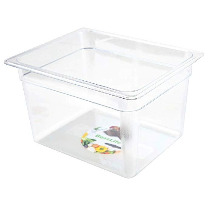 Sous Vide Container 12 Quart For Culinary Precision Cooker Immersion Circulators Clear Square Container Plastics Space Saving Food Storage Container With Cle Food Storage Containers Food Storage Storage Containers
