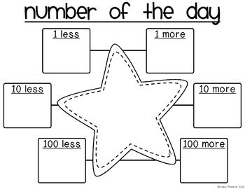 Number of the Day FREEBIE... Laminate it so it can be erased and used daily during calendar math!