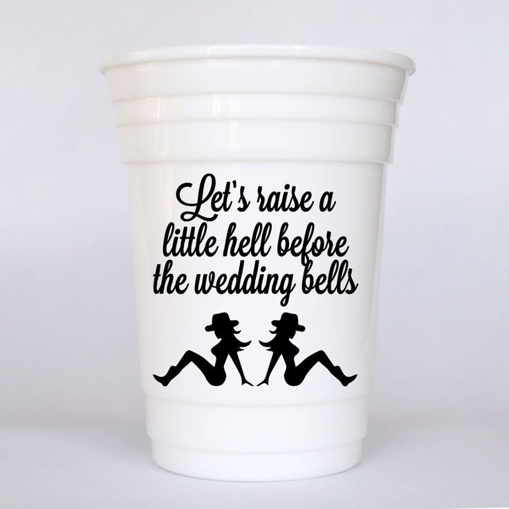 Custom bachelorette party cups for cowgirls. Sexy cowgirl bachelorette party favor. Plastic cup for bachelorette party.