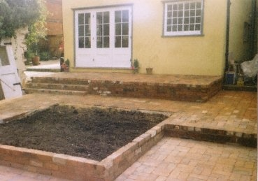 Brick Terrace and raised bed
