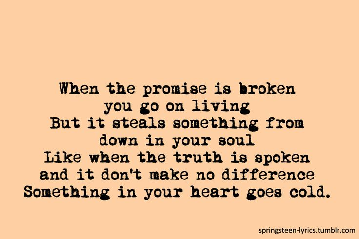 Bruce Springsteen - The Promise Lyrics | MetroLyrics