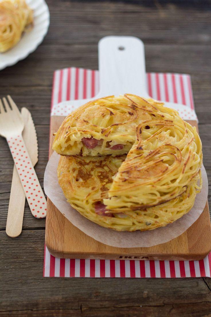 Frittata di maccheroni La frittata di maccheroni è un ottimo primo piatto perfetto per riciclare la pasta avanzata.