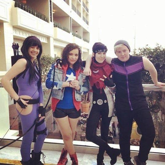 Throwback to my superhero squad tho.  wheres my young avengers Netflix series?? . . #youngavengers #youngavengerscosplay #marvel #marvelcosplay #katebishop #hawkeye #americachavez #billykaplan #wiccan #demiurge #billyteddy #teddyaltman #hulkling #katsucon2017 #katsu #katsucon #cosplay #cosplayersofinstagram