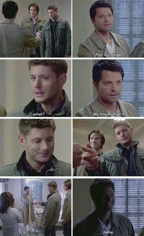 Crazy Cas's a funny person..But I prefer normal Cas..whatever that means lol