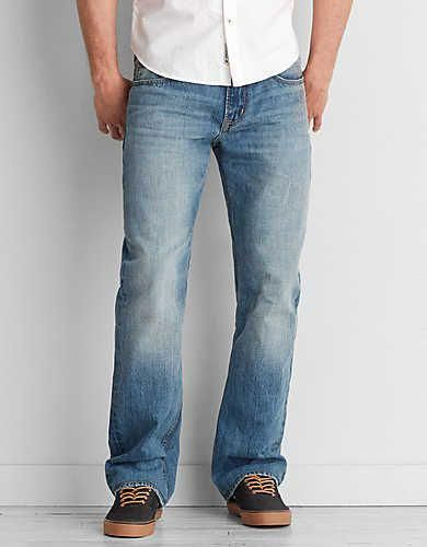 f621f4dcfc7 Classic Bootcut Jean, Light Wash | American Eagle Outfitters #MensJeans