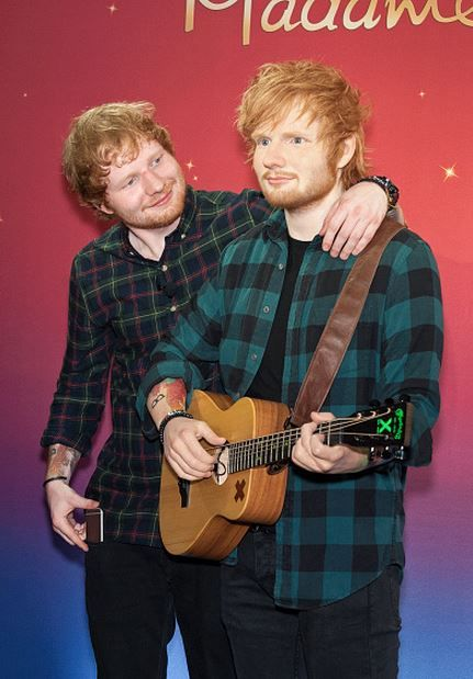 causeyoucanhearitinthesilence:    Ed Sheeran unveils new wax figure at Madame Tussauds (May 28, 2015)