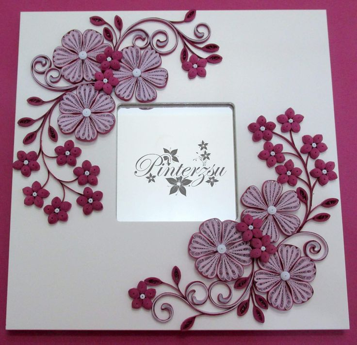 Magnificent Photo Frame With Paper Quilling Composition - Custom ...