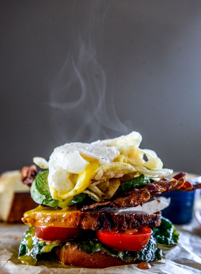 Roasted Turkey Potato Chip BLAT with an Egg | How Sweet Eats
