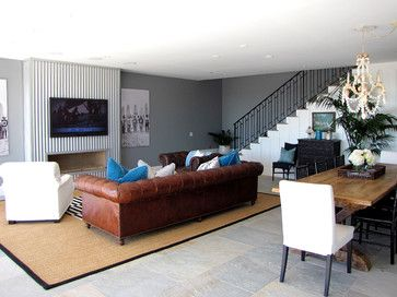 The Sandberg Home - beach style - family room - orange county - Tara Bussema