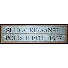 Suid Afrikaanse Polisie / South African Police 1931 - 1957 Collection.