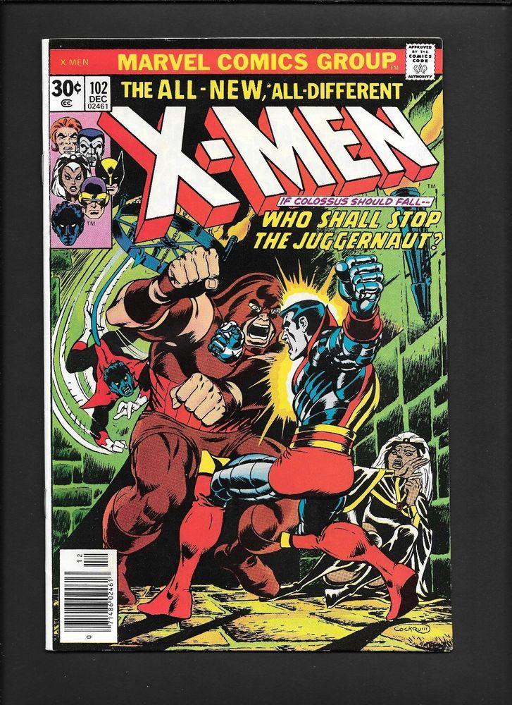 X Men 102 Juggernaut Phoenix Storm Origin Key Issue Uncanny Marvel Comic 1976 Marvel Comics Covers Comics Comic Book Heroes
