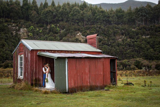 PORONUI, TAUPO - Red hut | Truly & Madly Blog | 14 Top Rustic Wedding Venues in New Zealand #weddingvenues #nzvenues #rusticweddings #venues