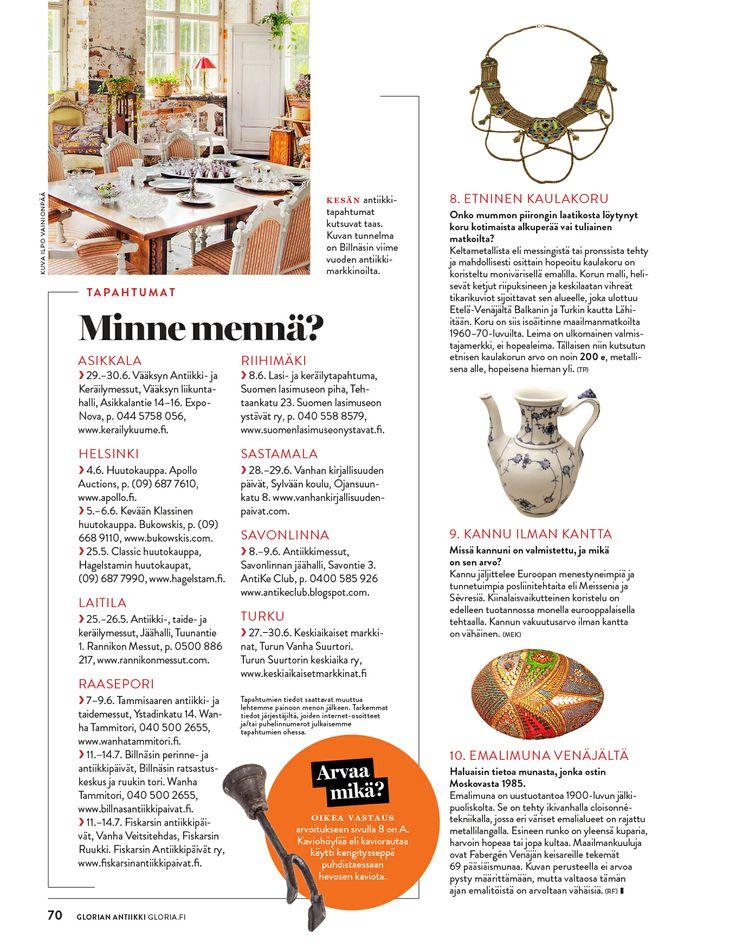 Glorian Antiikki / Sanoma Kevät 2013