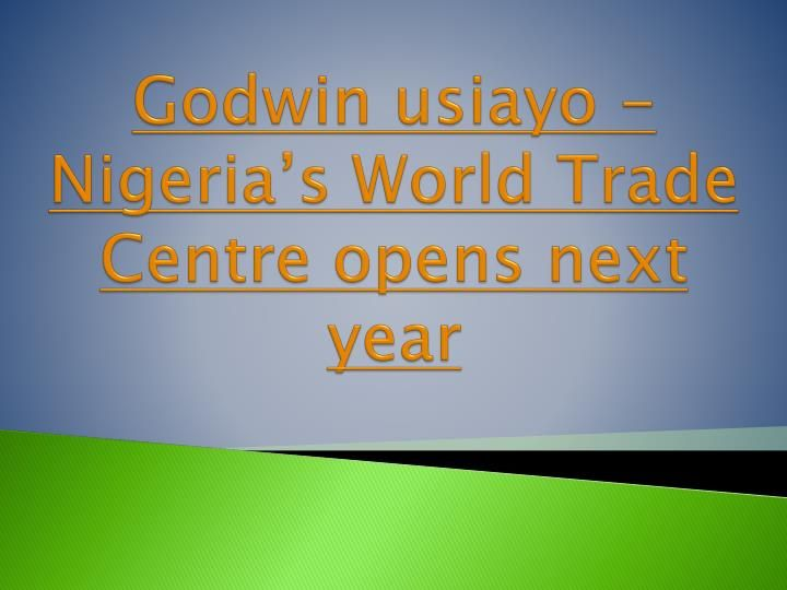 A World Trade Center complex is relied upon to open to general society in Abuja right on time one year from now after the first\'s fulfillment period of development.\n \nThe advancement will join a system of 323 areas in 89 nations, began in 1970 with the first\'s initiation World Trade Center in New York City. Supported by nearby and outside money related organizations, and in addition private speculators, to the tune of N200 billion, or simply over $1 billion, the WTC Abuja will be the…