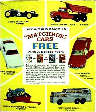 #quaker #cereal #matchbox cars free