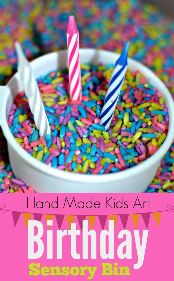 birthday sensory bin activities birthdays and sensory bins. Black Bedroom Furniture Sets. Home Design Ideas