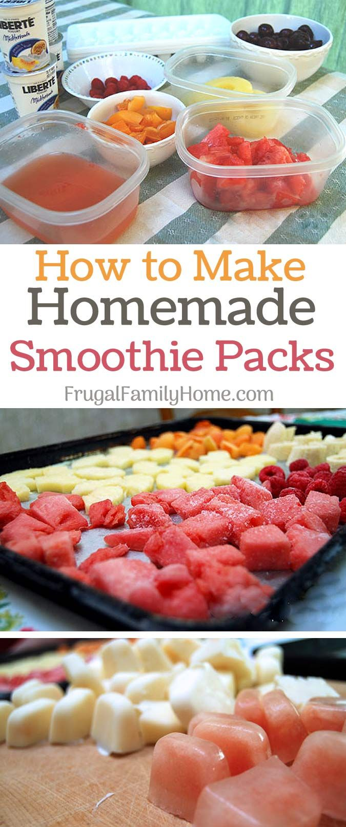 Homemade smoothie packs, a simple easy way to make smoothies any time of the day.
