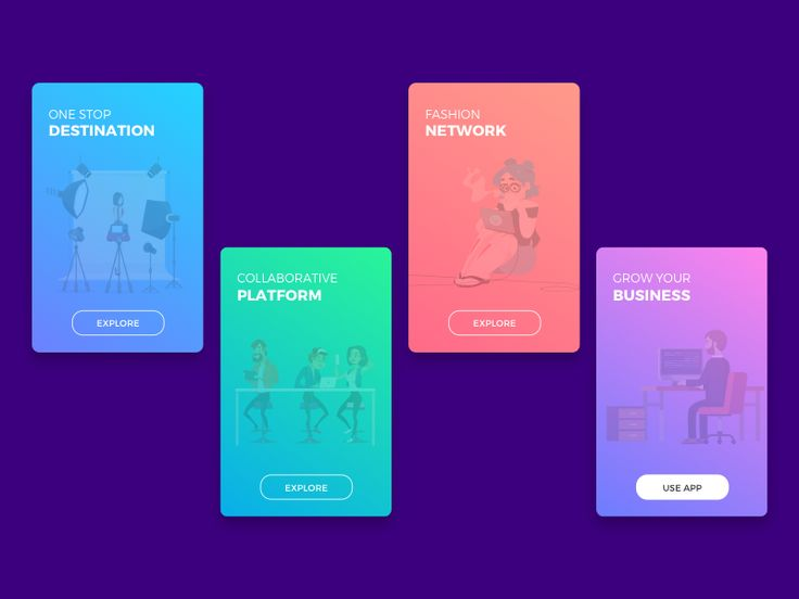 User Onboarding Screens - Fashion Agency App
