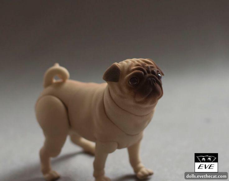 Pug 5 cm | by BJD Pets (dolls.evethecat.com)