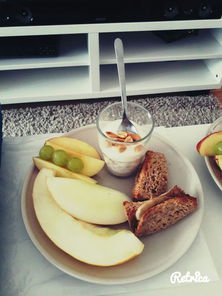 Healthy fruity breakfast