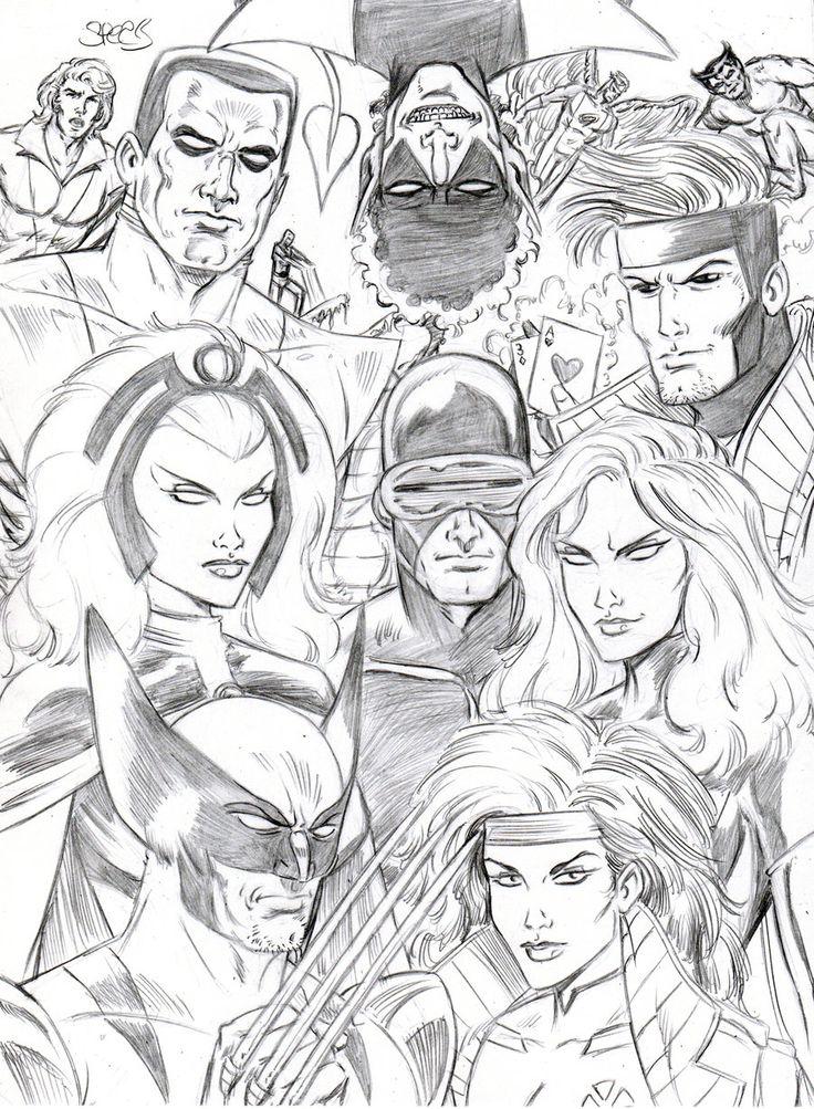 102 besten coloring pages superheroes bilder auf